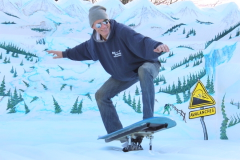 Snowboard Simulator Snowboarder Winter Christmas Party Corporate Event West Midlands